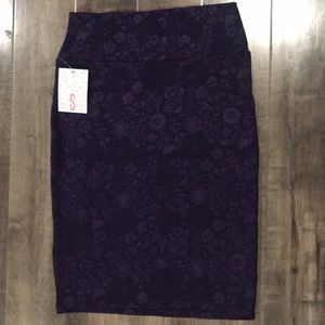 LuLaRoe Purple Floral Cassie Skirt